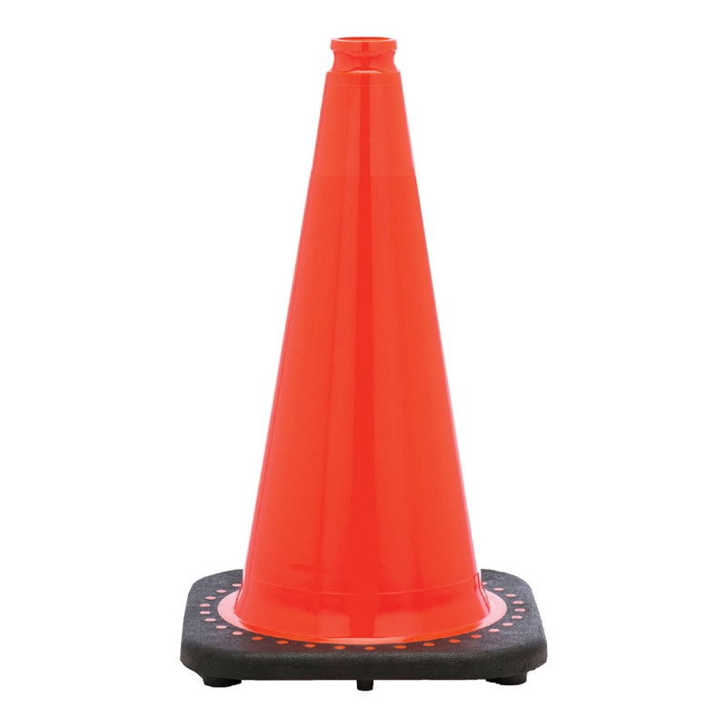 "Rubber Parking Cone 18"" Orange"