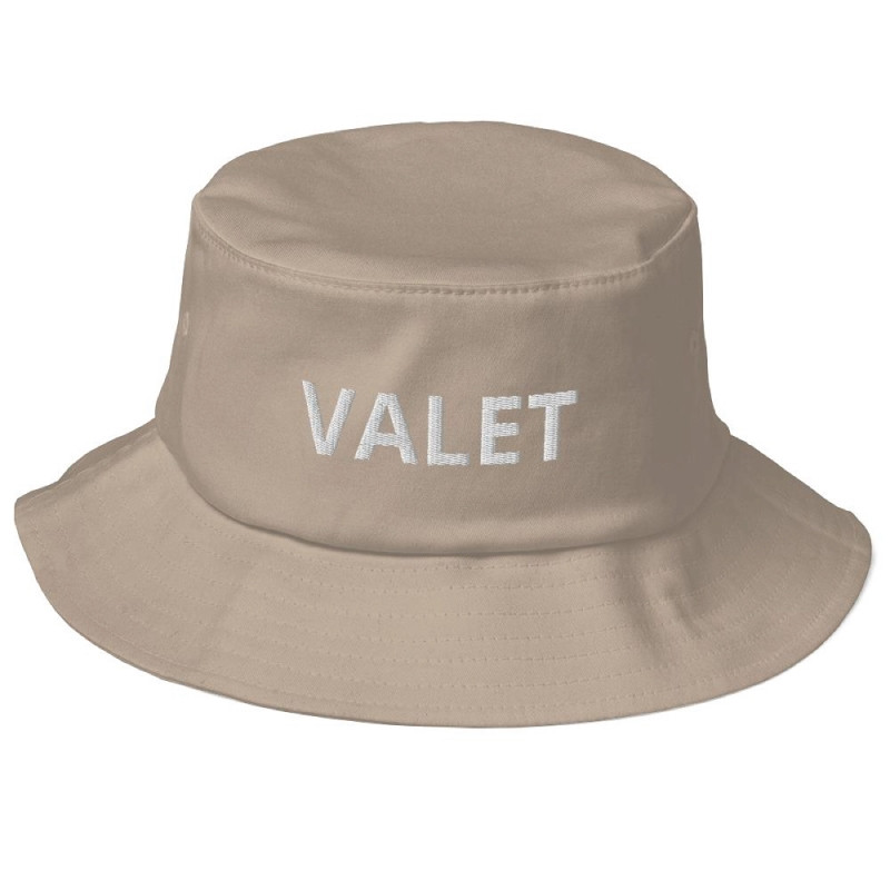 Beige Valet Bucket Hat