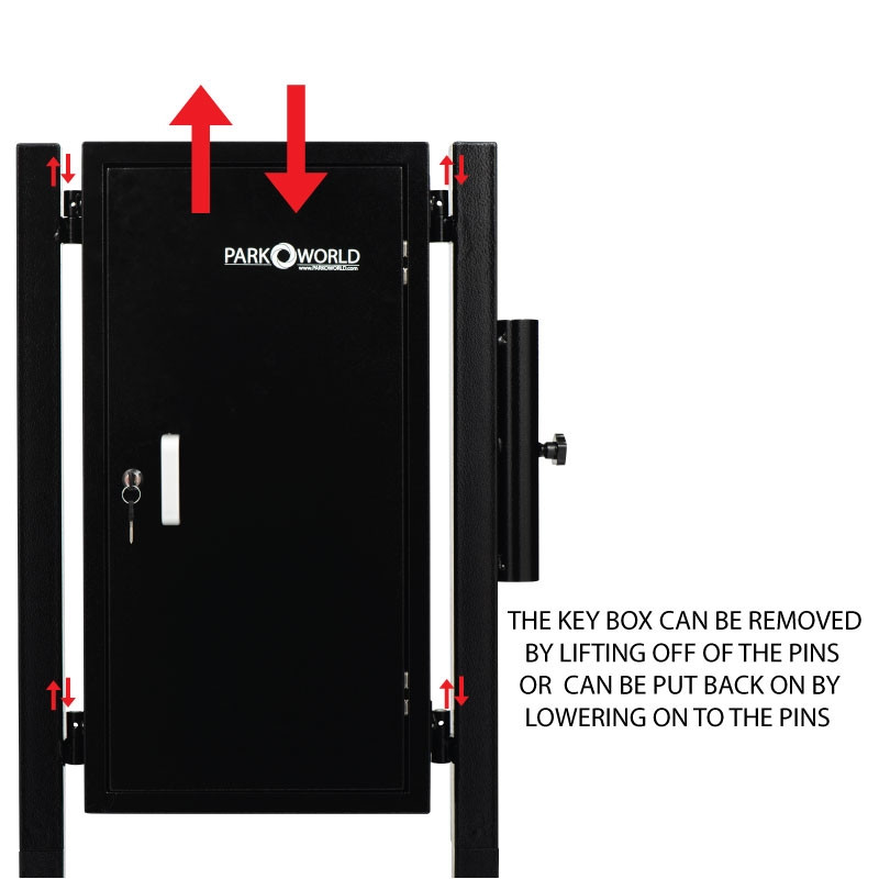 Black Valet Parking Key Box 50 Hook Black With Stand Front