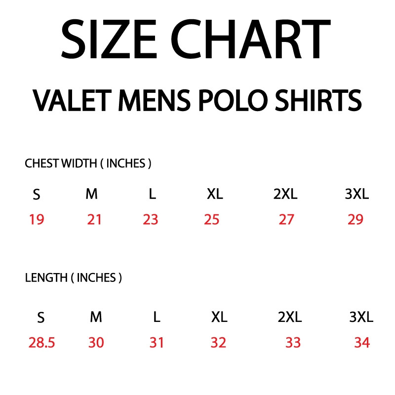Red Valet Polo Shirt With