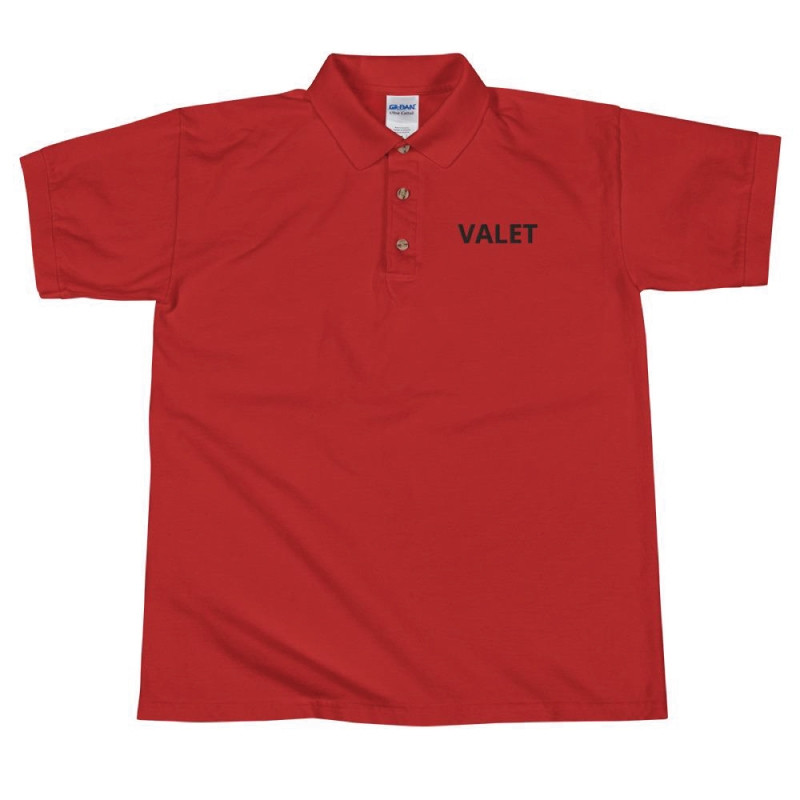 Red Valet Polo Shirt