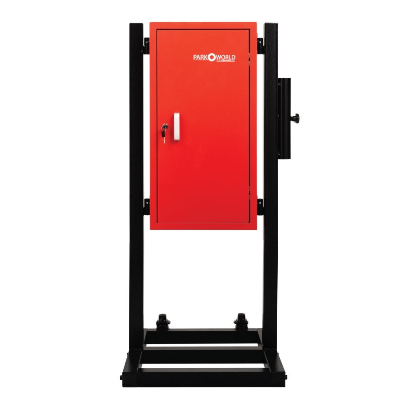 Red Valet Parking Key Box 50 Hook Black With Stand Front