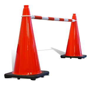 Cone Bar Red/White