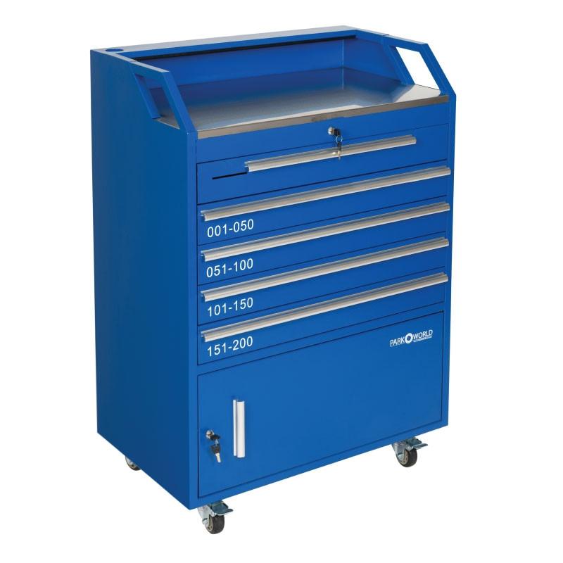 Blue Valet Podium 200 Key Slot Front Drawers