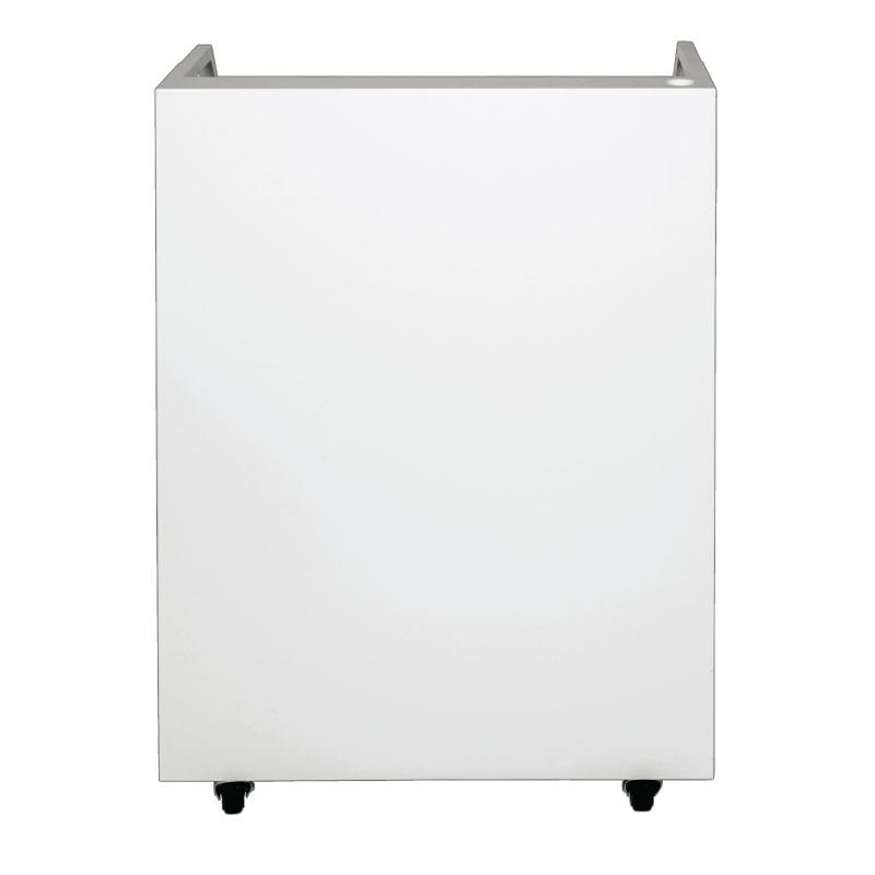 White Valet Podium 200 Key Slot Drawer Side Front