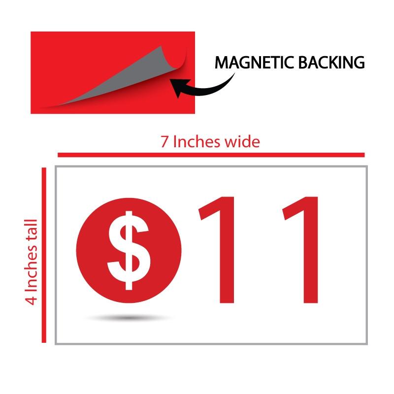 Valet Podium Magnet Add On Sign MA09