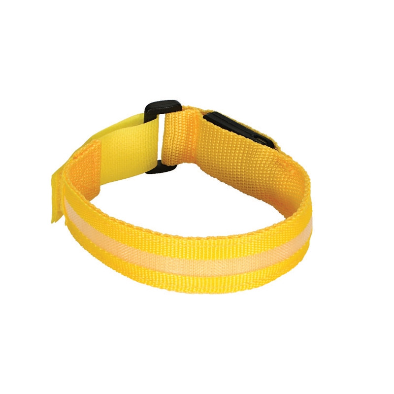 Valet LED Safety Armband - Yellow - USB Rechargeable