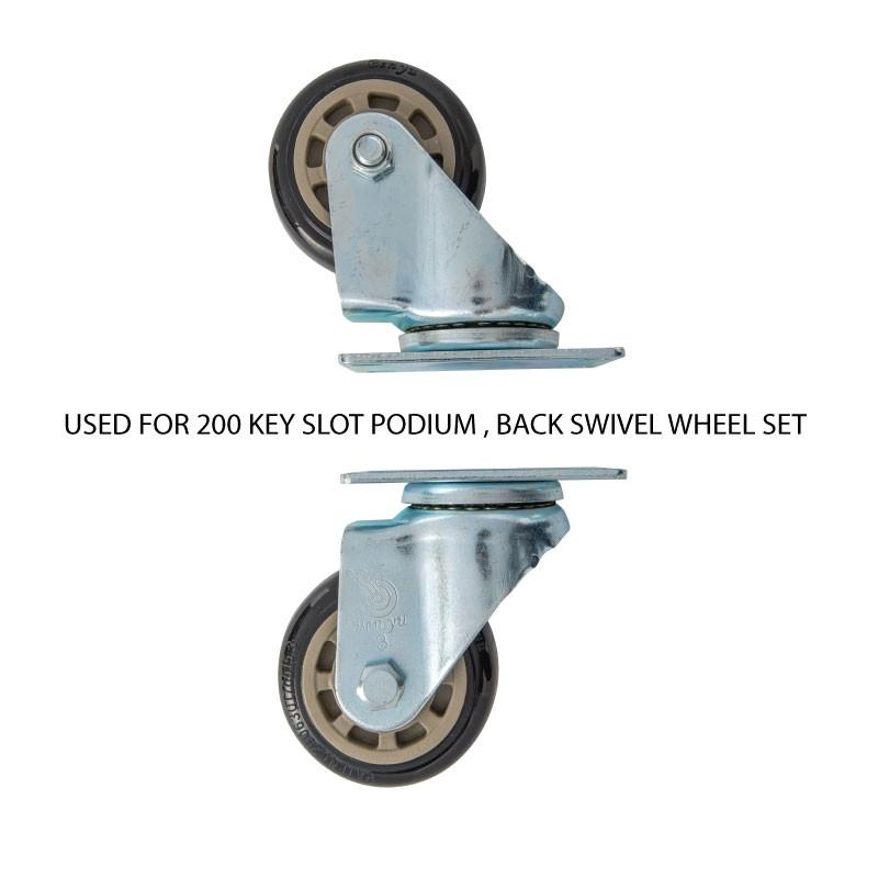 200 Key Valet Parking Podium Back Swivel Wheel Set