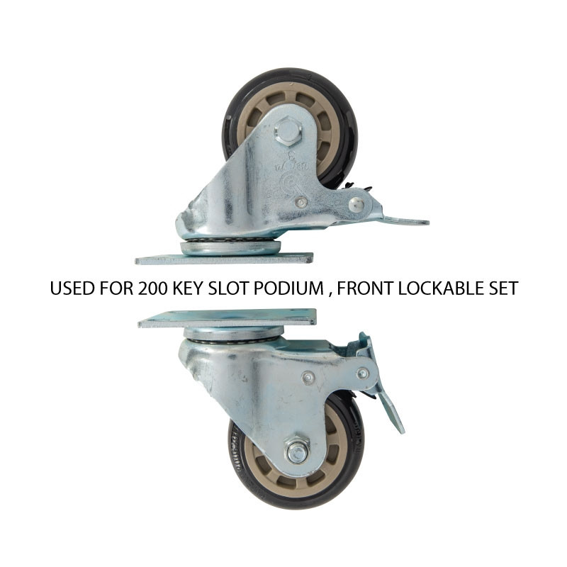 200 Key Valet Parking Podium Front Lockable Swivel Wheel Set
