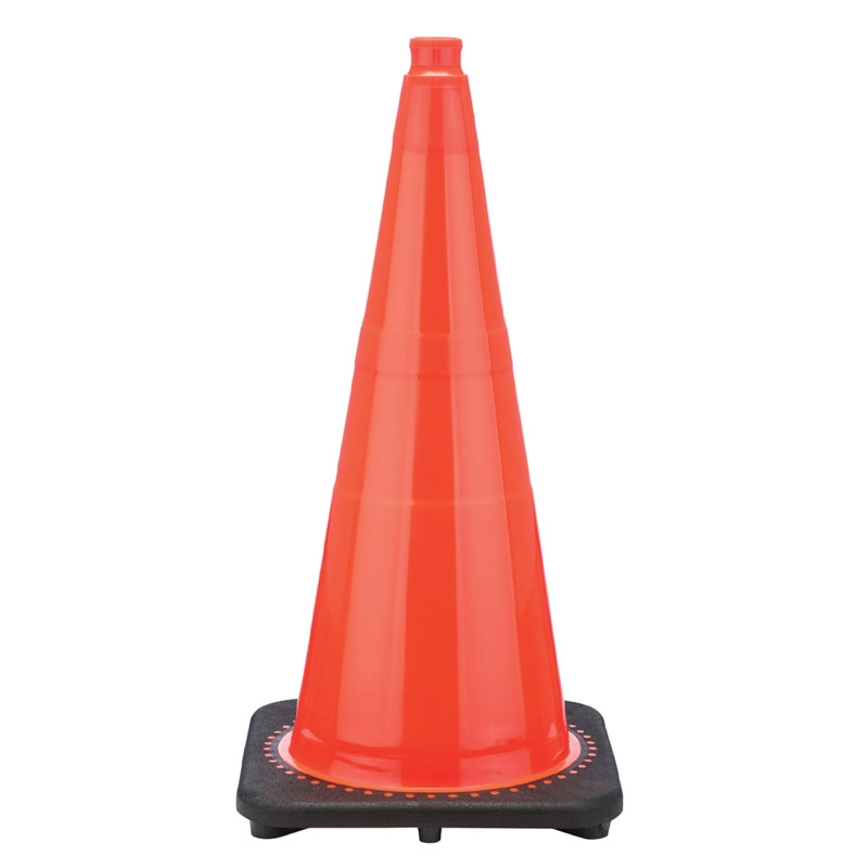 "Rubber Parking Cone 28"" Orange"