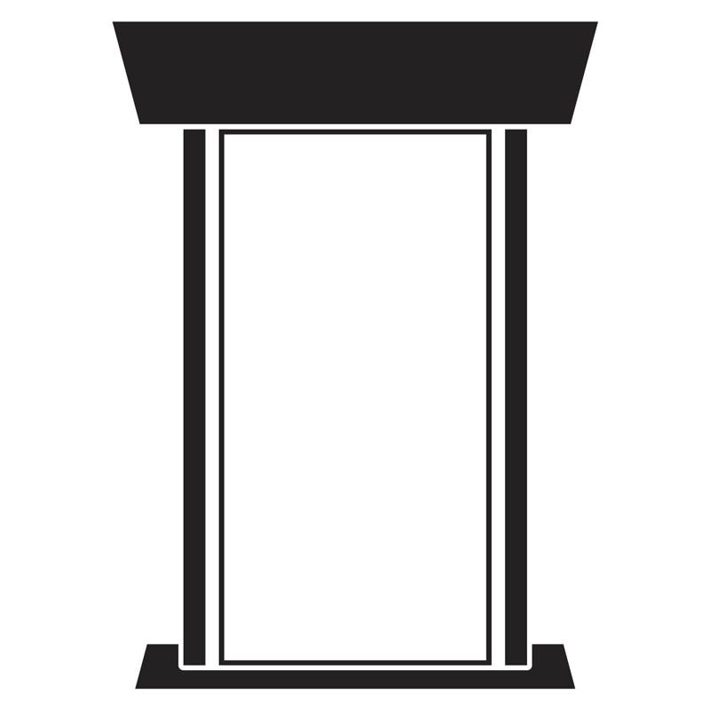 Custom Design Podium Sign PS-1