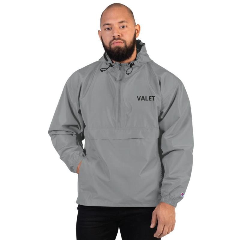 Grey Valet Jacket with Black Wording