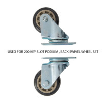 200 Key Valet Parking Podium Back Swivel Wheel Set