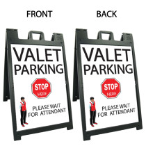 Signicade Deluxe Black A-Frame Double Sided Sign AF-5