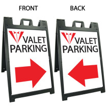 Signicade Deluxe Black Double Sided Valet Parking A-Frame AF-3