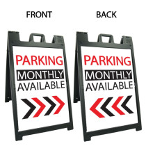 Signicade Deluxe Black Double Sided Valet Parking A-Frame AF-6