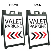 Signicade Deluxe Black Double Sided Valet Parking A-Frame AF-8