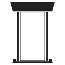 Custom Design Podium Sign PS-1
