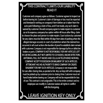 Reflective Black Liability Sign