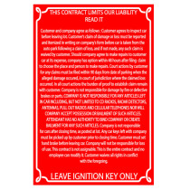 Reflective Red Liability Sign