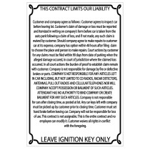 Reflective White Liability Sign