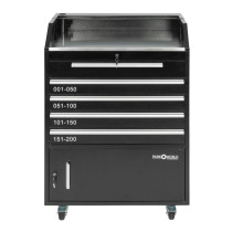 Valet Podium 200 Key Slot Black Front Drawers