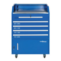 Blue Valet Podium 200 Key Slot Front Drawers