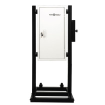 White Valet Parking Key Box 50 Hook Black With Stand Front