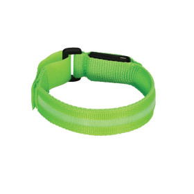 Valet LED Safety Armband - Green - USB Rechargeable