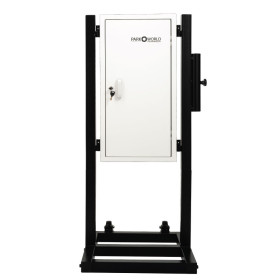 White 50 Hook Valet Key Box With Stand