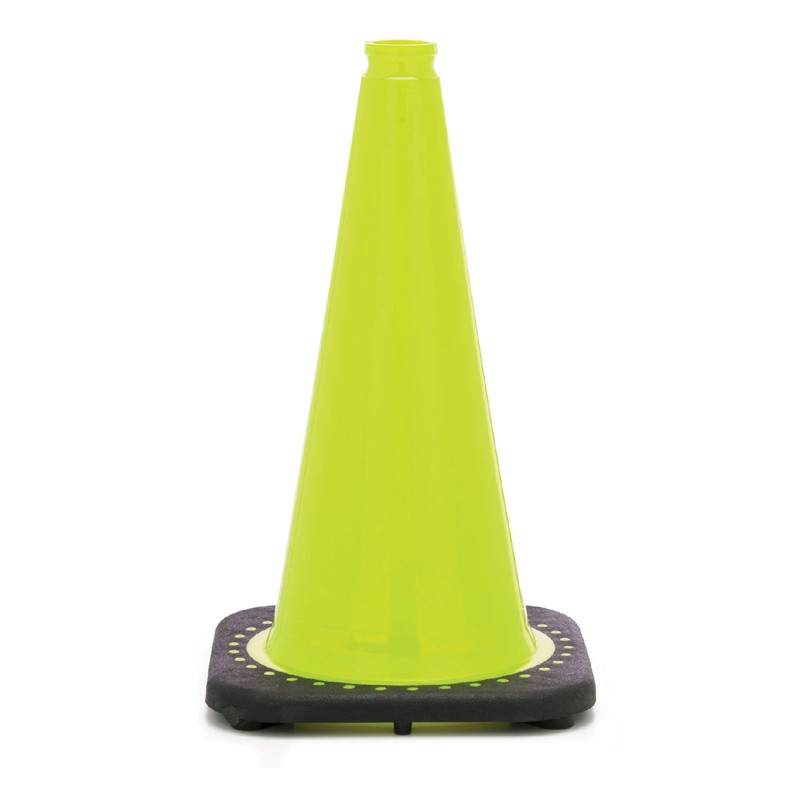 "Rubber Parking Cone 18"" Lime"