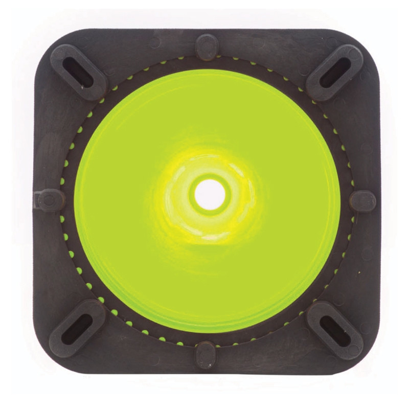 "Rubber Parking Cone 28"" Florescent Lime base"