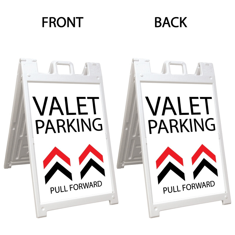 Signicade Deluxe White A-Frame Double Sided Sign AF-7