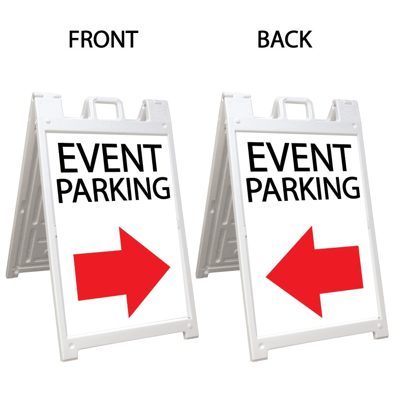 Signicade Deluxe White Double Sided Valet Parking A-Frame AF-1