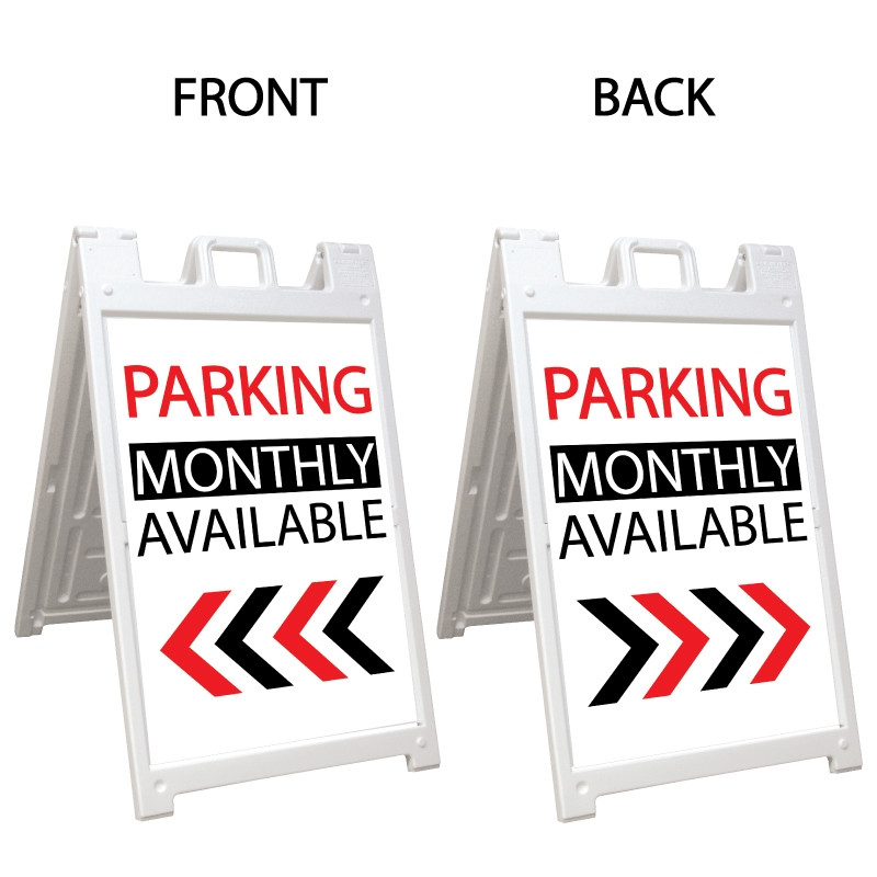 Signicade Deluxe White Double Sided Valet Parking A-Frame AF-6