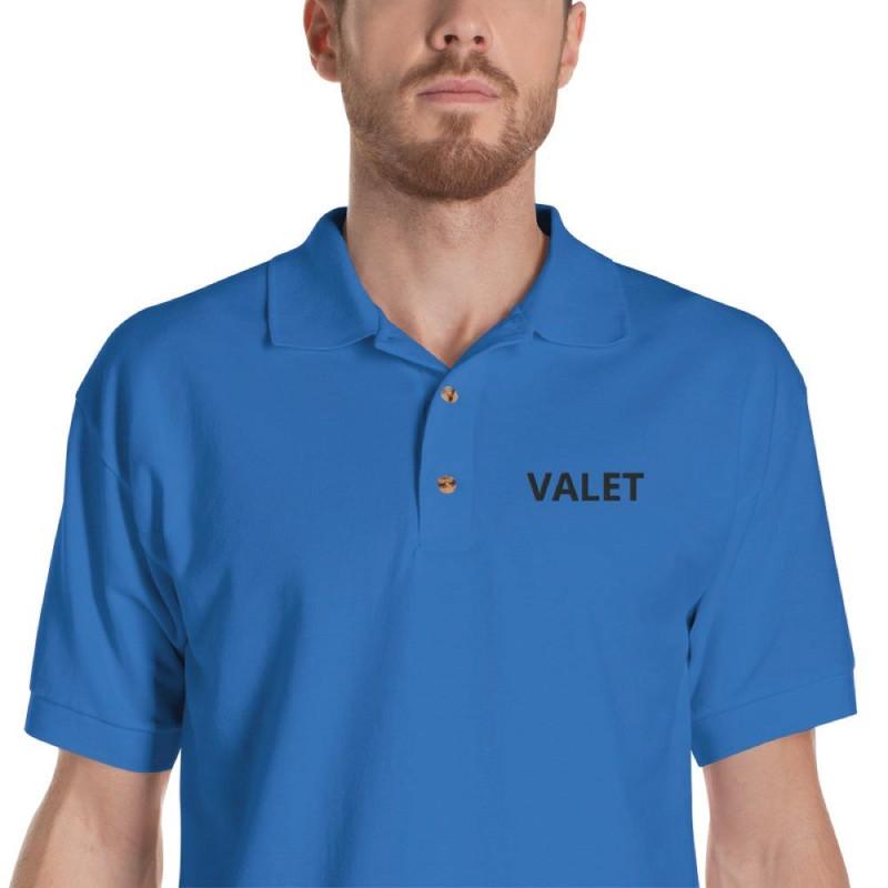 Blue Valet Polo Shirt Detail