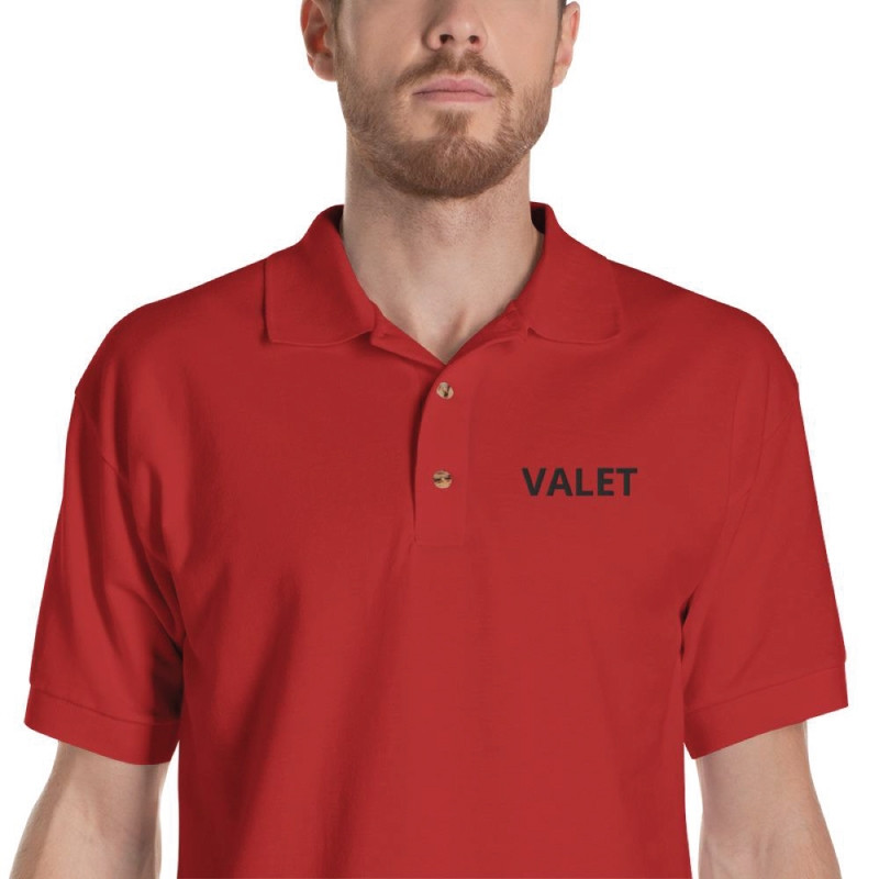 Red Valet Polo ShirtDetail