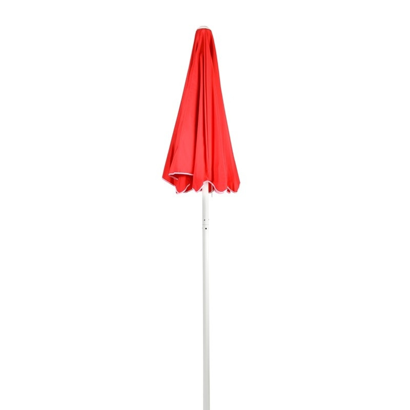 Curbside Temperature Check Station Red Umbrella