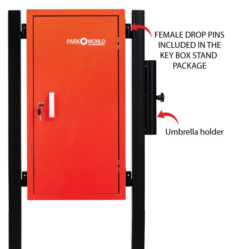 Red Valet Parking Key Box 50 Hook Black With Stand Pin And Umbrella