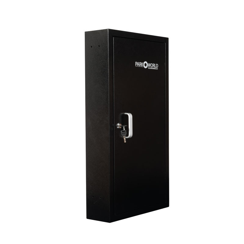 Black Valet Key Box 50 Key Hook Front