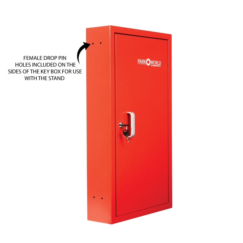 Red Valet Key Box 50 Key Hook Side Holes