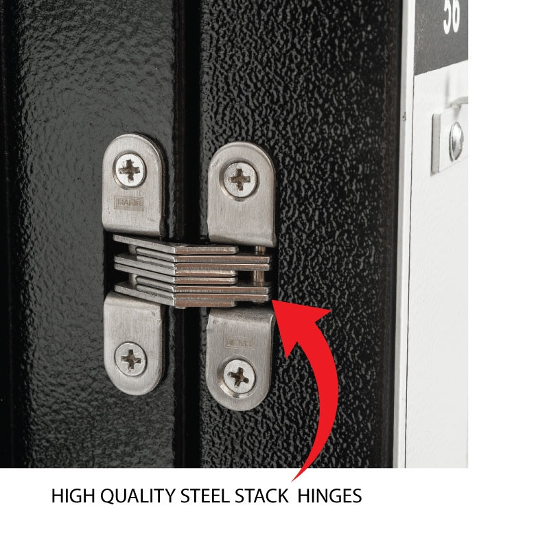 Black Valet Key Box Black Stack Hinges Zoom
