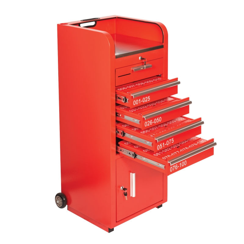 Valet Parking 100 Key Slot Red Drawers Open
