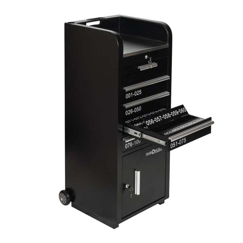 Valet Podium 100 Key Slot Black Key Slot Open