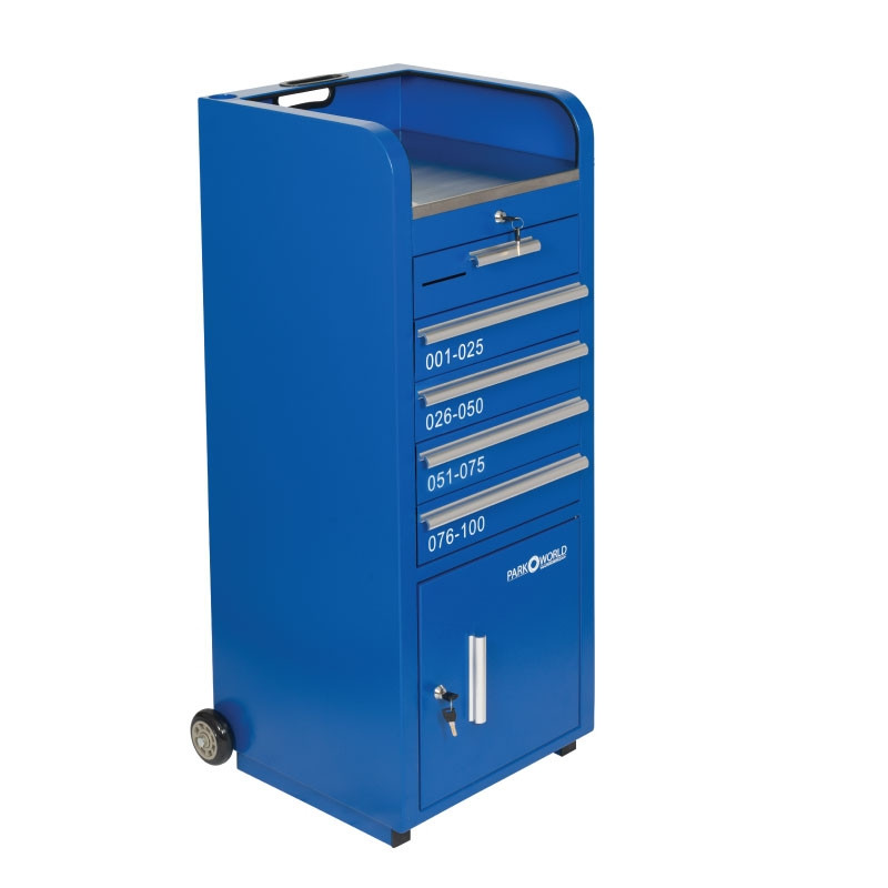 Blue Valet Podium 100 Key Slot Drawers Closed