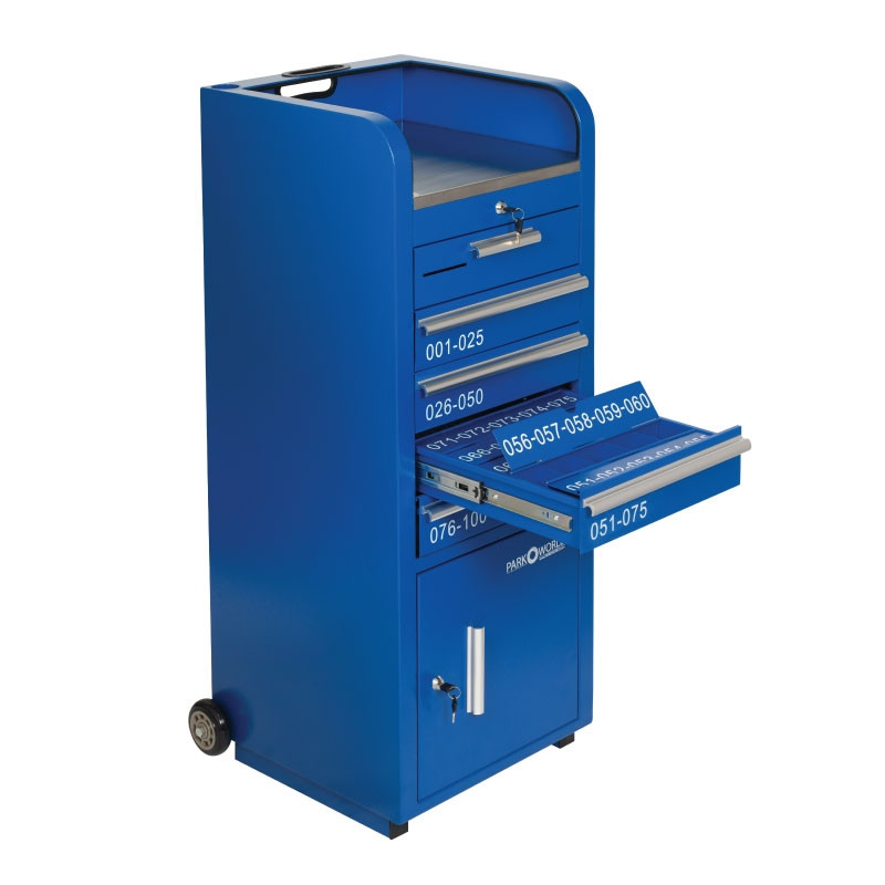 Blue Valet Podium 100 Key Slot Flap Open