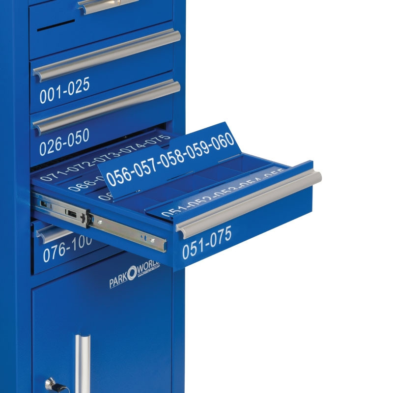 Blue Valet Podium 100 Key Slot Close Up Flap Open