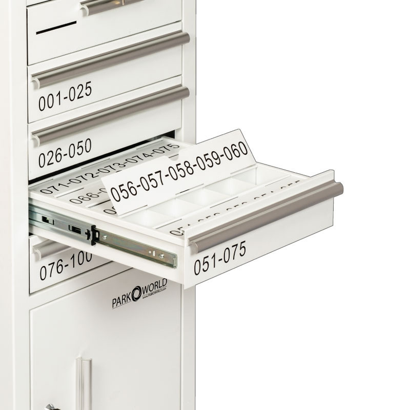 Valet Podium 100 Key Slot White Flap Open