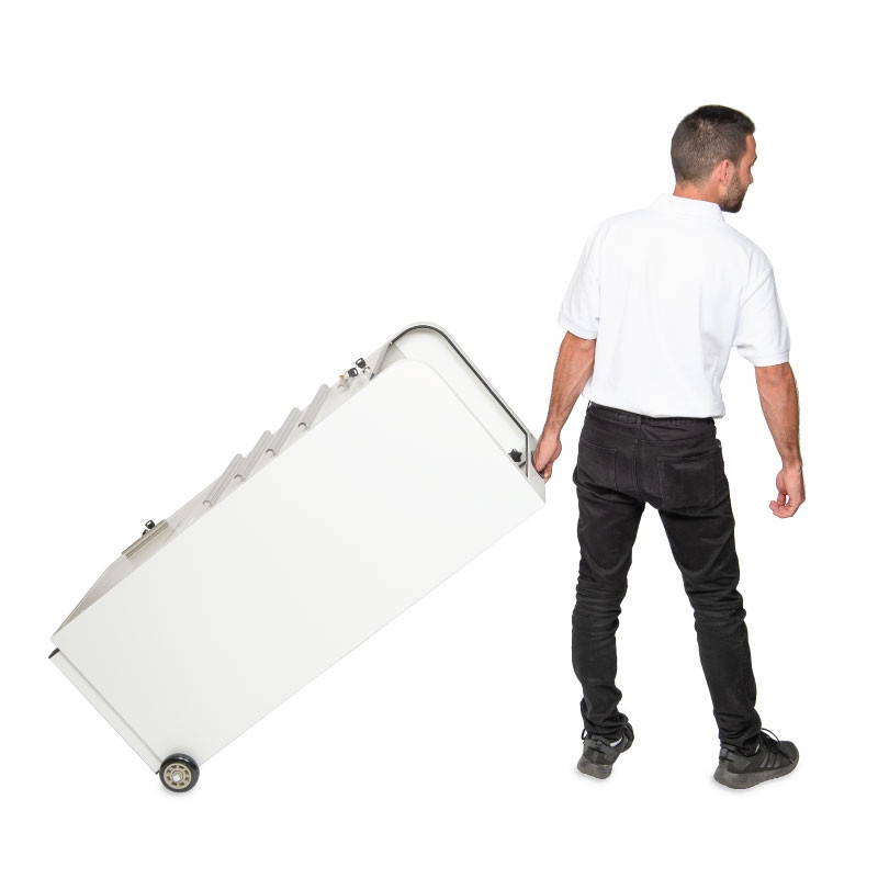 Valet Podium 100 Key Slot White Roll