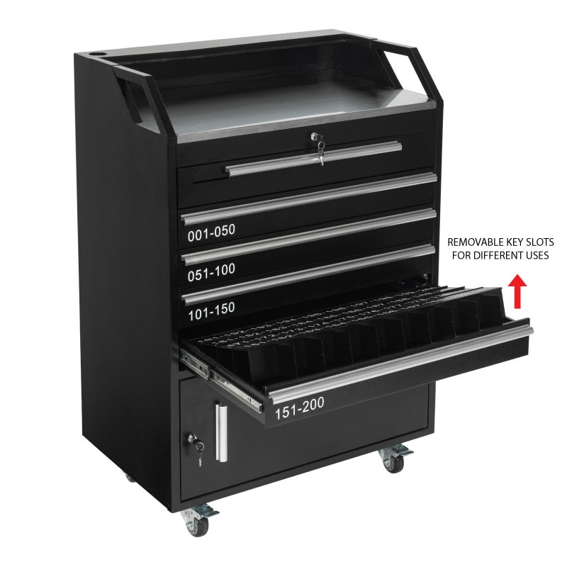 Valet Podium 200 Key Slot Black Removable Slots